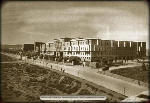 1927-31, Clemens Holzmeister, the Ministry of Defense, Ankara Milli Savunma Bakanlığı