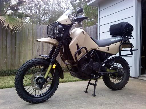 Click on either picture to jump to the thread on ADV rider where I found this great KLR650.