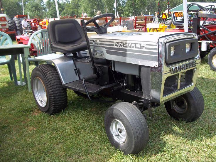 2010 Sears Craftsman Garden Tractors : Rare white garden tractor oliver tractors equipment