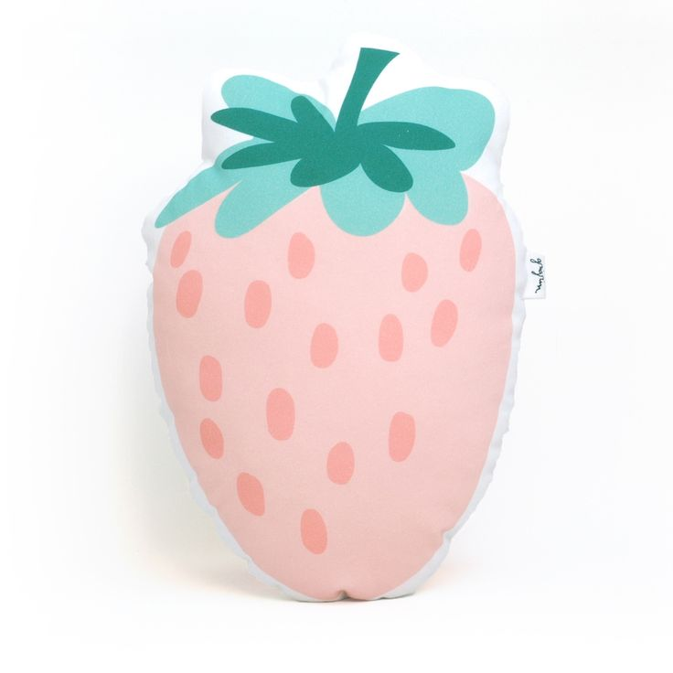 Strawberry Pillow kids room www.grigrin.com