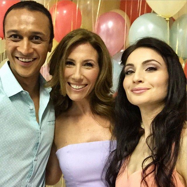 Chris Bisson (Jai Sharma), Gaynor Faye (Megan Macey) & Roxy Shahidi (Leyla Harding) (Summer Fate 2015)