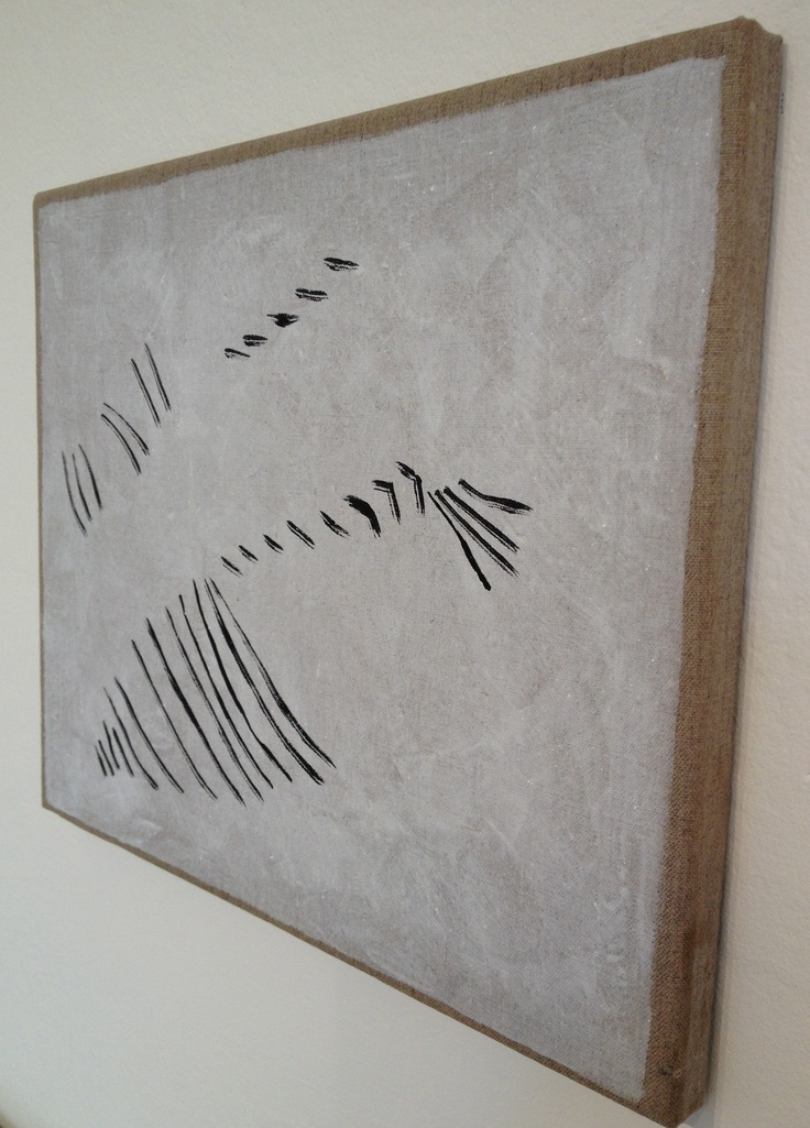 Stretched Burlap Canvas by Avis Newman at NUCA