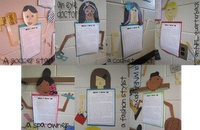 close ups of some of the growing up stories and they created the jobs to add to their characters
