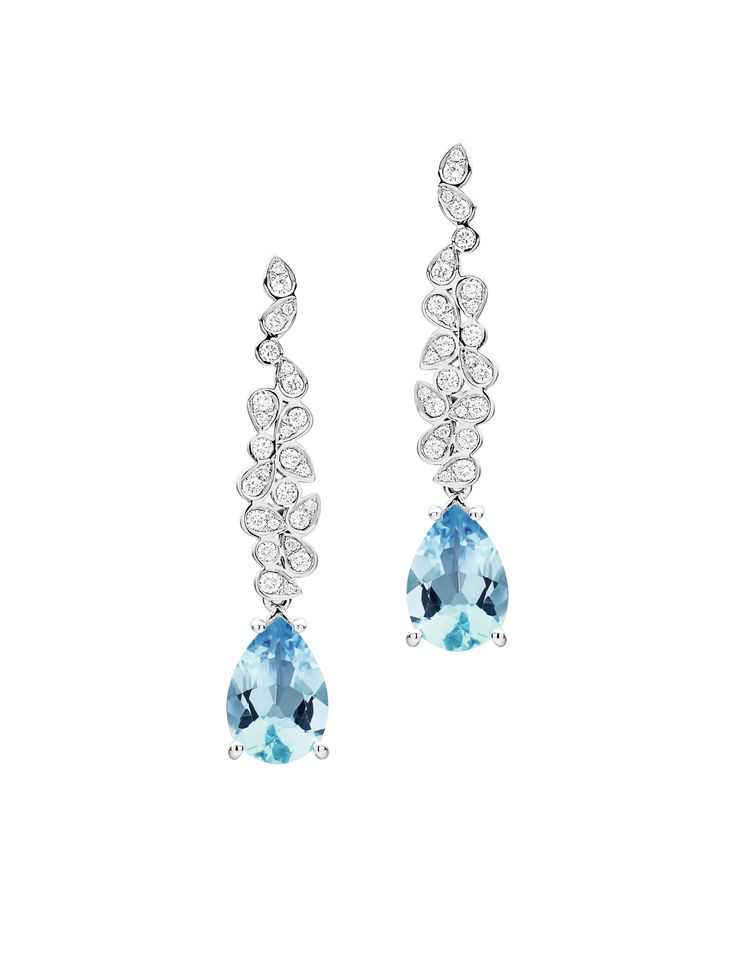 Jan Logan Aquamarine Detachable 'Barcelona' Diamond Drop Earrings