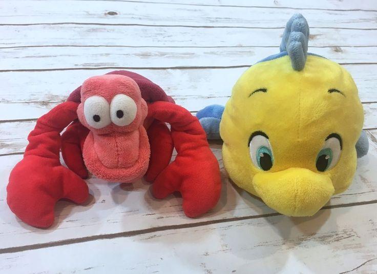 Disney Store The Little Mermaid Plush Toy Lot Sebastian Lobster Flounder Fish  | eBay