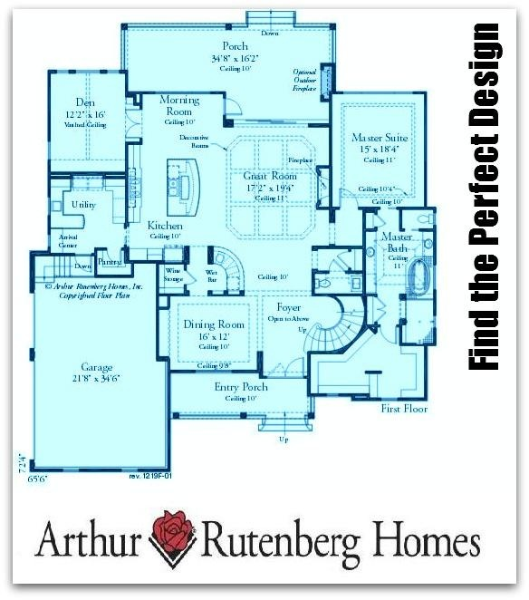arthur rutenberg homes floor plans - home plan