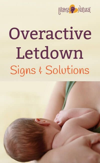Overactive letdown is when your breast milk comes out too fast and hard at letdown. Learn how to spot it - and how to handle this frustrating issue. http://www.mamanatural.com/overactive-letdown/