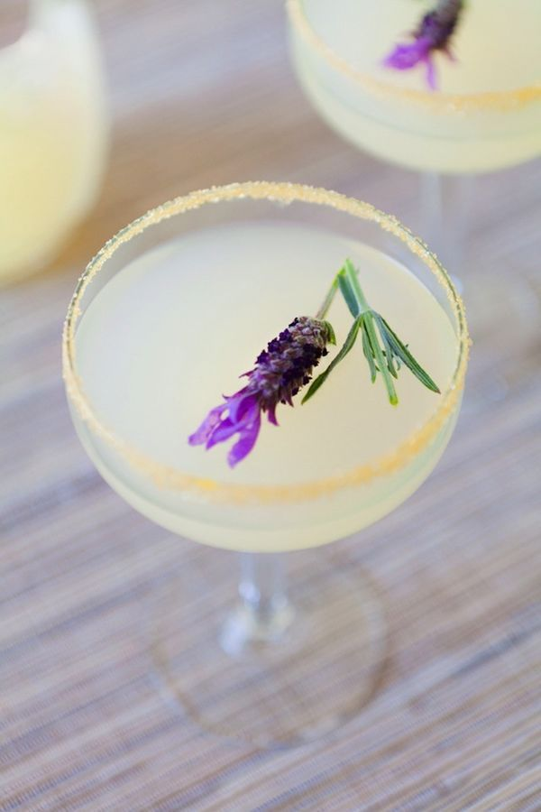 Vodka Lavender Lemonade: The best herbal wedding cocktails effortlessly blend complementary flavors together. Lavender and lemon are a particularly tasty pair. Take a break from the summer heat and enjoy this vodka lemonade with lavender.