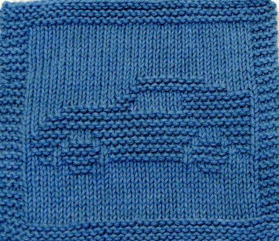 Large Knitting Cloth Pattern - CORVETTE - PDF