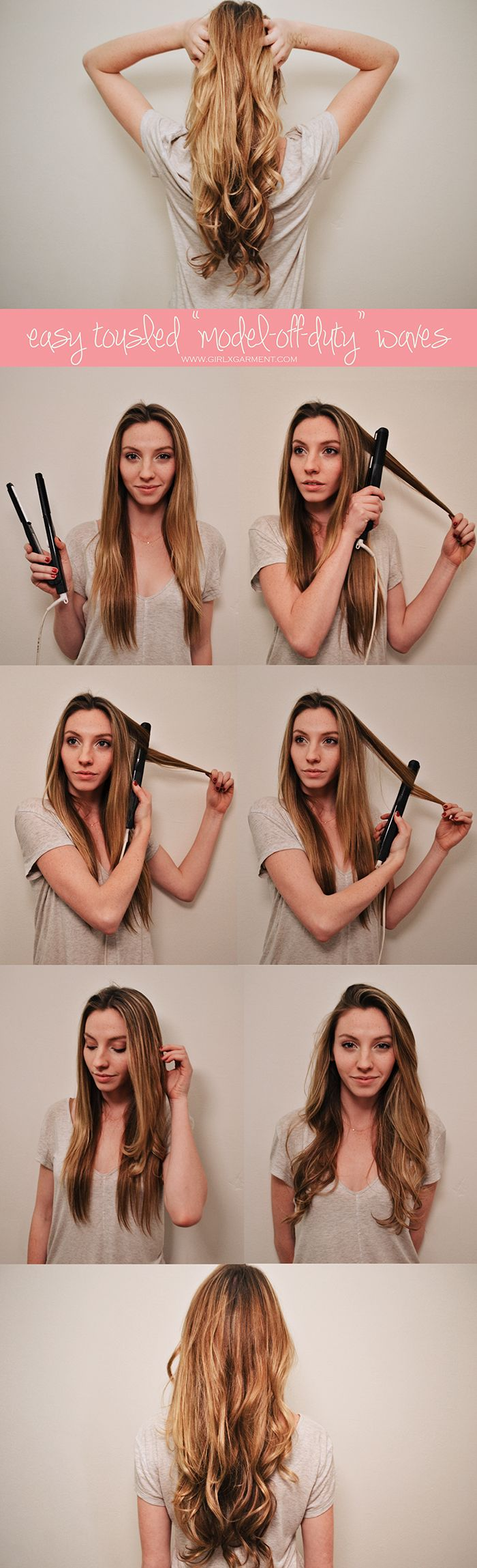 """I'm still surprised at how easy it is to do this. I normally wear my hair  stick-straight, since that's how it is naturally and thus requires zero  effort (aka I can sleep longer), but in the past few weeks I've been using  this super quick & easy trick on the occasional morning before I head to a  casting. And, while I do feel like I've gotten one step closer to achieving  that Kate Moss-esque """"model off duty"""" hair, the real reason why I've  continued to do it is because this takes me ..."""