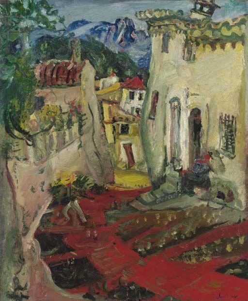 'Rue à Cagnes' (ca. 1924) by Chaïm Soutine. Art Experience NYC www.artexperiencenyc.com/social_login/?utm_source=pinterest_medium=pins_content=pinterest_pins_campaign=pinterest_initial