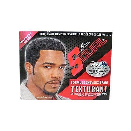 S-Curl Texturizer For Men - Luster Products Kit Texturant pour Hommes. 2 principes actifs: Huile d'Olive et Huile d'Argan. Formule cheveux épais. Il suffit de quelques minutes pour des cheveux frisés ou bouclés parfaits.