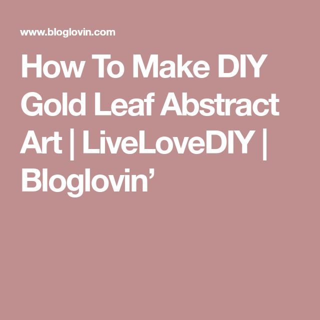 how to make gold leaf