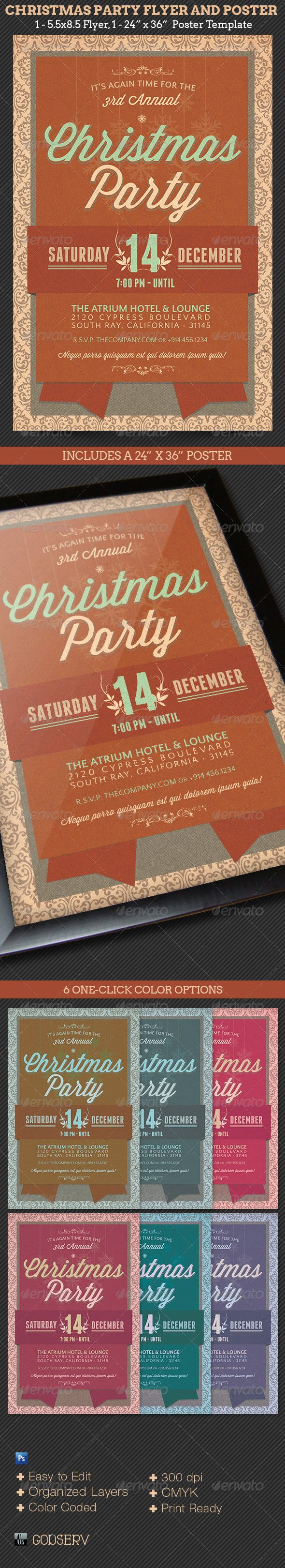 best images about best photoshop template bundles christmas party flyer poster template
