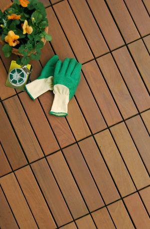 HandyDeck Ipe wood tiles - Colorado style