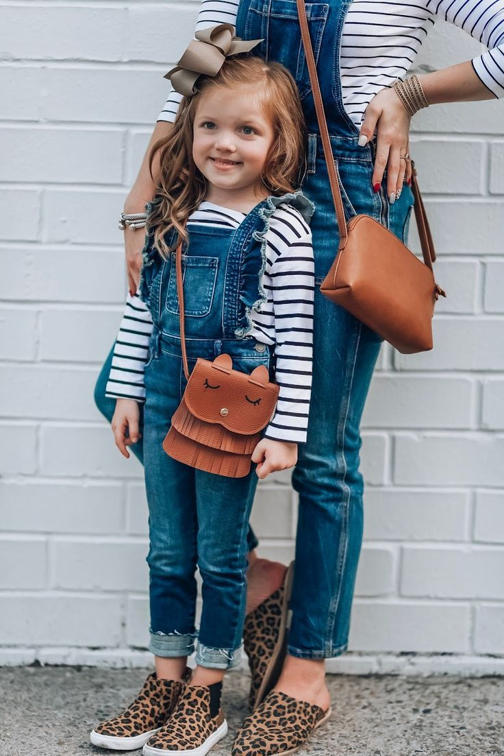 Mommy And Me Style How To Style Overalls   Girls fall outfits ...