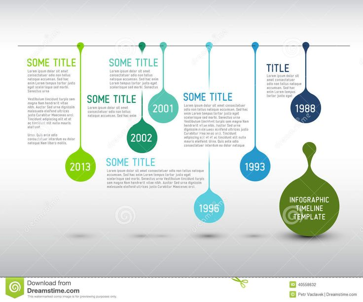 Colorful Infographic Timeline Report Template With Drops - Download From Over 41 Million High Quality Stock Photos, Images, Vectors. Sign up for FREE today. Image: 40558632
