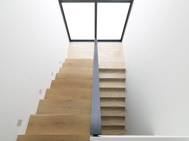 Tobias Partners - Cooper Park House. European oak stairway from Tongue n Groove.