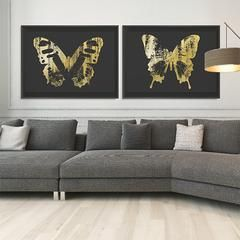 Butterfly with Forest Wings Collection #artsquaredinc #art #design #gray #artandnature #ButterflyForest #butterflyart