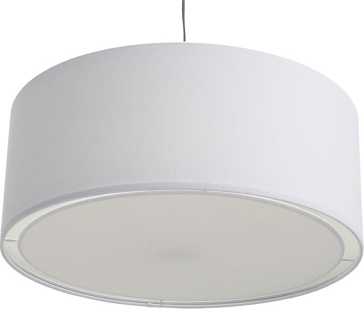 eden white pendant lamp in pendant lamps | CB2