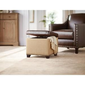 Home Decorators Collection Ethan Brown Storage Ottoman-7159100740 - The Home Depot