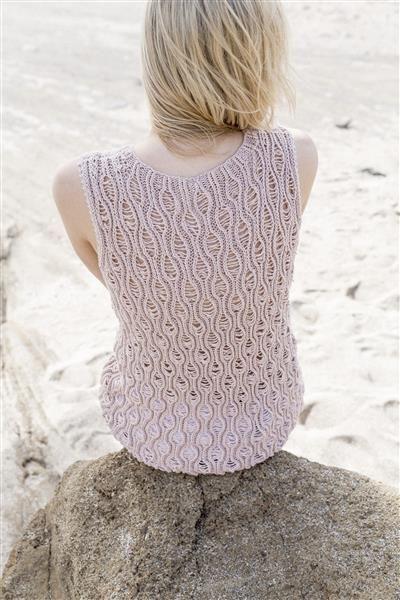1505: Design 12 Topp med bølgemønster #Line #bomull #cotton #lin #linen
