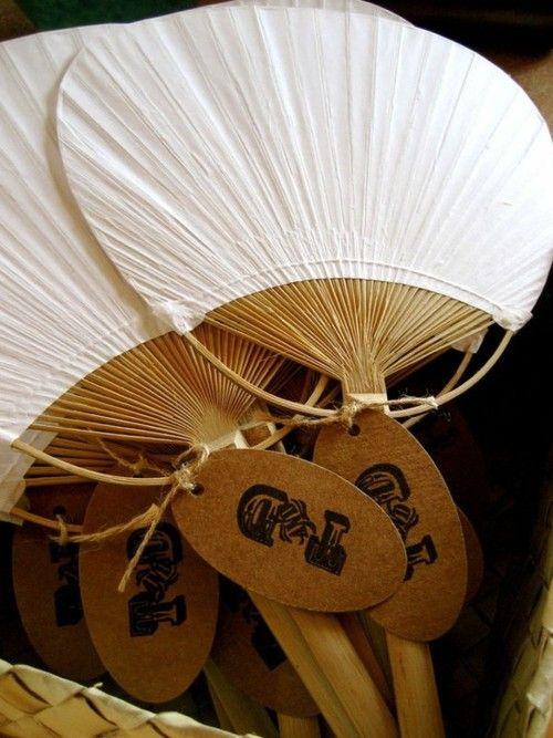 tropical tiki bamboo fan idea instead of bouquets