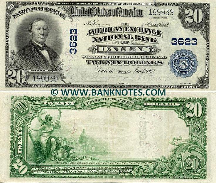 Texas 20 Dollars 1907