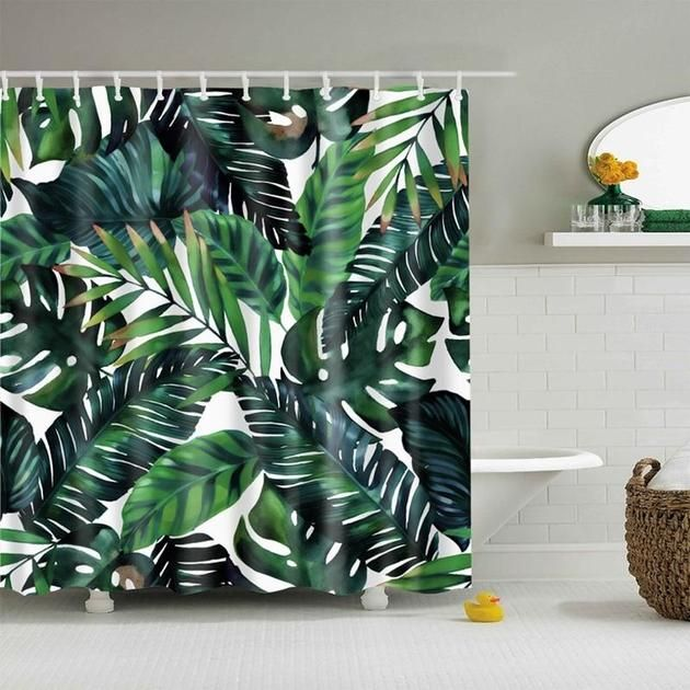 Tropical Palm Leaves Shower Curtain House Of Andaloo Home Store