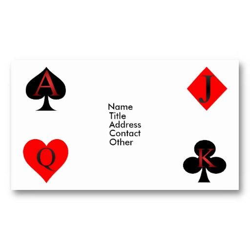 20 best playing card business card images on pinterest business king of clubs playing cards colourmoves