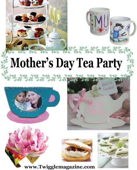 Mothers Day Tea Party - Ideas, crafts, recipes, activites to host a Mothers Day tea party in your classroom or in your own backyard.