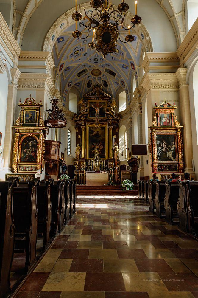 Kazimierz Dolny - Wnętrze fary w Kazimierzu nad Wisłą. Kościół farny pw. św. Jana Chrzciciela i św. Bartłomieja.
