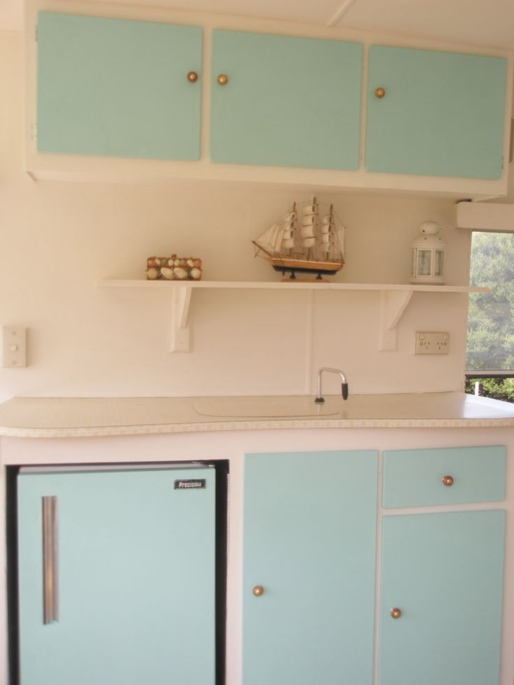 Renovated Vintage Caravan - Sneak View - before shot is on blog