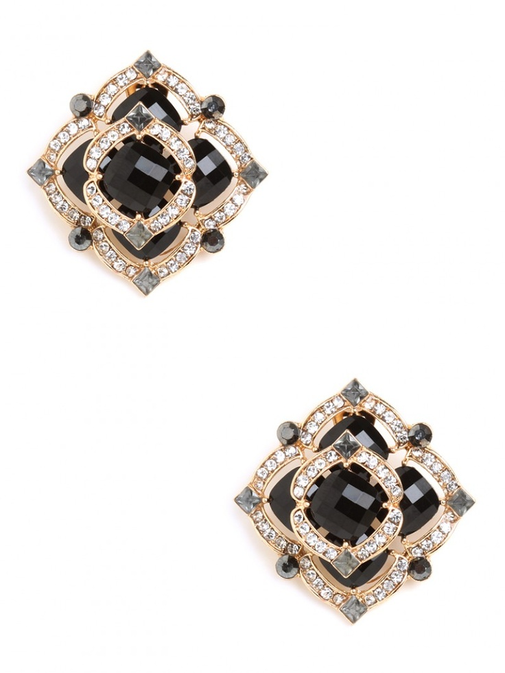 Our Onyx Ice Rose Studs look like something you'd find in your grandmother's jewelry box... hence, our obsession.