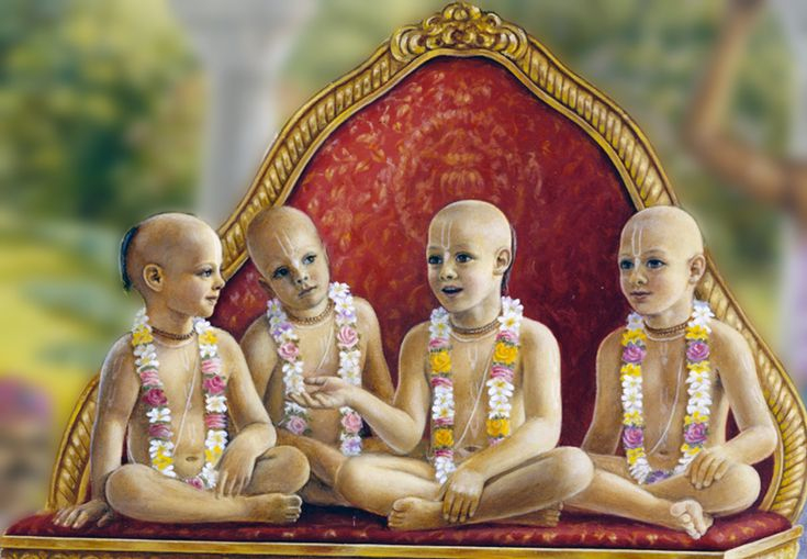 Once upon a time, the great sages, Sanaka, Sanandana, Sanatana and Sanatkumara visited Vaikuntha. There are seven gates in Vaikuntha loka and when the sages tried to enter the seventh gate, the door keepers, Jaya and Vijaya stopped them by blocking the way with their staff, and thereby offended the sages. The sages cursed them to take birth in the material world. The door-keepers repented for their mistake.