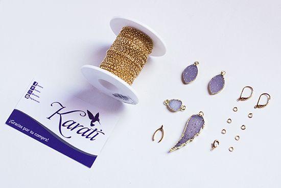 DIY: Collar en capas con cuarzo druzy de Karati