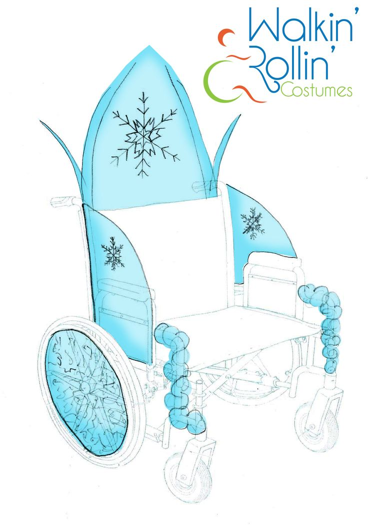"A Queen Elsa ice throne from the movie, ""Frozen."" This was designed to go around a child's wheelchair."