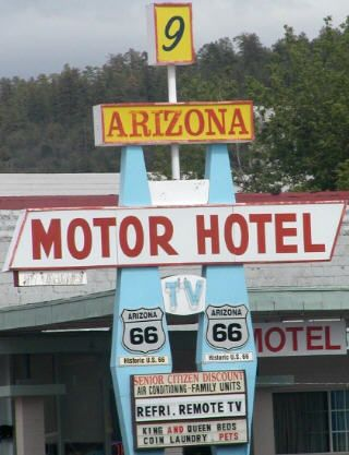 ARIZONA, Williams 86046 - Arizona 9 Motor Hotel, 315 West Route 66, (928) 635-4552, 1-877-851-6763  only 2 stars, 23 rooms, On the world famous Route 66, offers simply furnished rooms with cable TV, daily continental breakfast. Air-conditioning is featured in each guest room. For convenience, each guest room includes a microwave, a refrigerator, a telephone and an alarm clock. A business center with fax and photocopying services is available.The Grand Canyon Railroad is a 5 minute walk away.