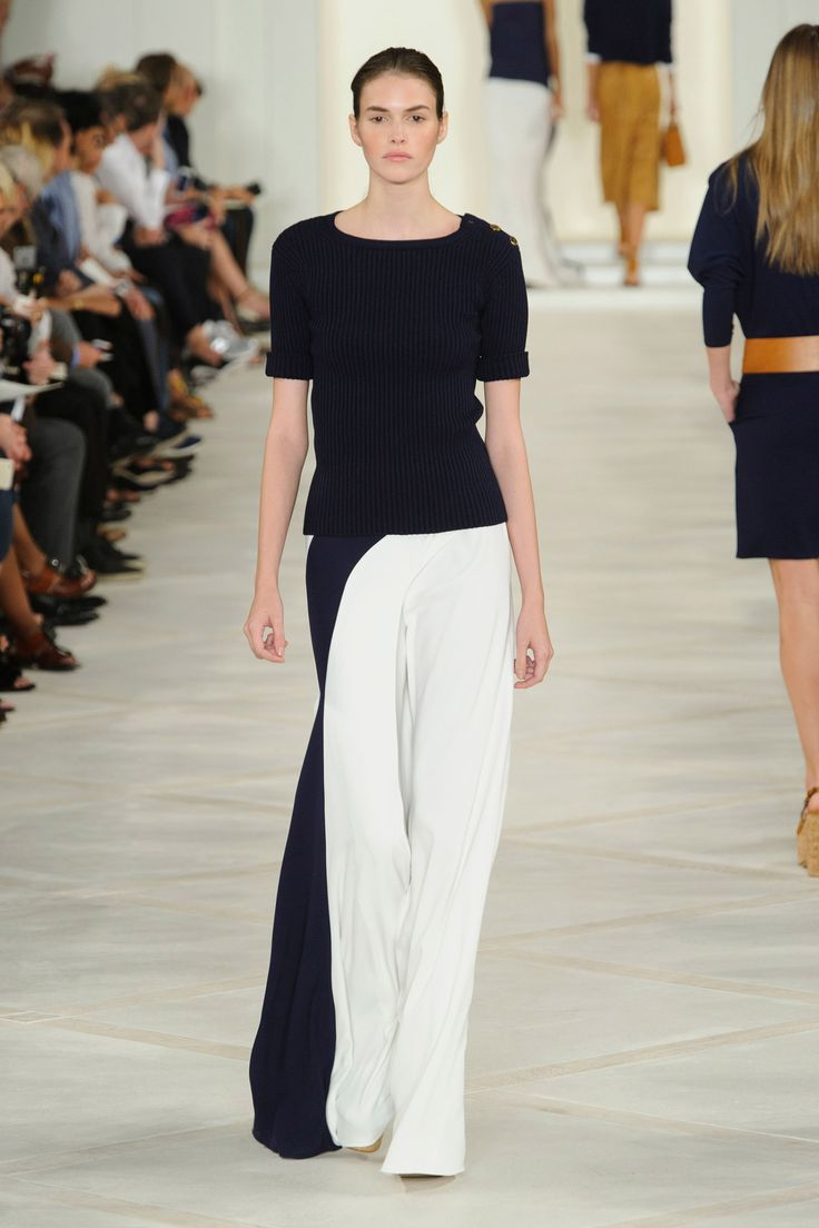 There was something of a sail-like quality to the way white pant-skirts were wrapped around the body, exposing a swathe of leg or worked into tunic dresses over pants, strapless dresses and so on. Imagine if the wind caught these...   - HarpersBAZAAR.com