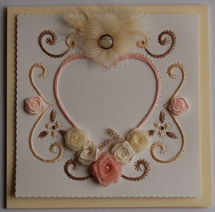 Défi 7 de Follaiguille - carte réalisée en février 2014 en prévision du mariage d'une amie.