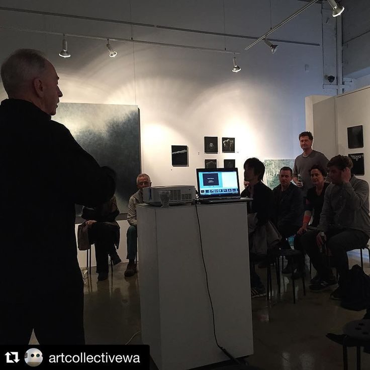 #RobertBoynes speaking at @artcollectivewa last night.