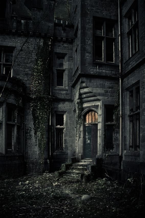 """Critical: The building in this photo shows what happens if the greenery around a structure isn't carefully tamed. The light on just past the door draws the observer in. It feels like the photographer is teetering on the edge of """"should I stay, or should I go?"""" A question that has a very critical answer."""