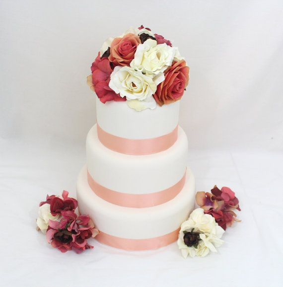 silk flower wedding cake decorations 1000 images about it tops the cake silk floral wedding 19841