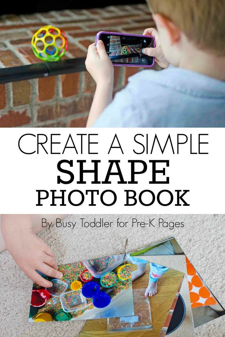 Create a Shapes Photo Book - Pre-K Pages. Your preschool kids will love learning about shapes with this meaningful and fun activity they can do at home or at school!