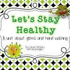 """This unit focuses on healthy behaviors such as proper hand washing and not """"sharing"""" germs.  In this unit, you will find: -A class read aloud book/anchor charts for not """"sharing germs"""" -4 versions of a hand washing flow map -Links to fun videos -A little book on staying healthy (that requires students to add information) -A worksheet titled """"When I am Sick"""", which has the students think about the symptoms of common illnesses, and has them name common illnesses."""
