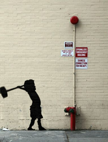 Animated GIFs of Banksy's New York City Street Art