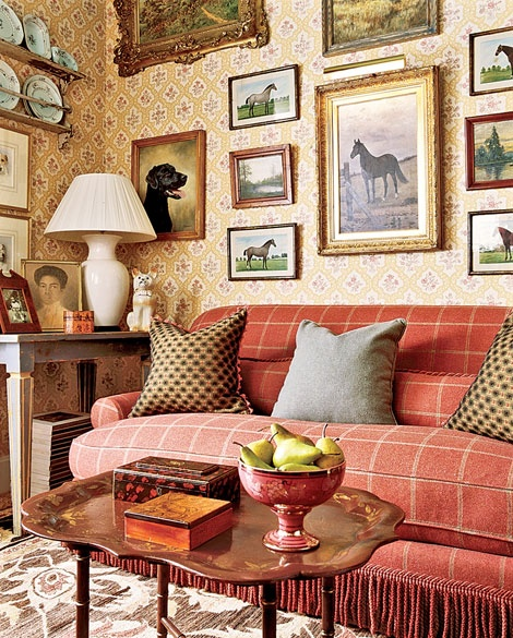 1000 images about english decor plaids fox hunting - Decorating living room country style ...