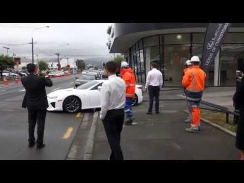 Unloading the Lexus LFA at our showroom in Christchurch. A supercar in every sense. #lexus #lfa #supercar