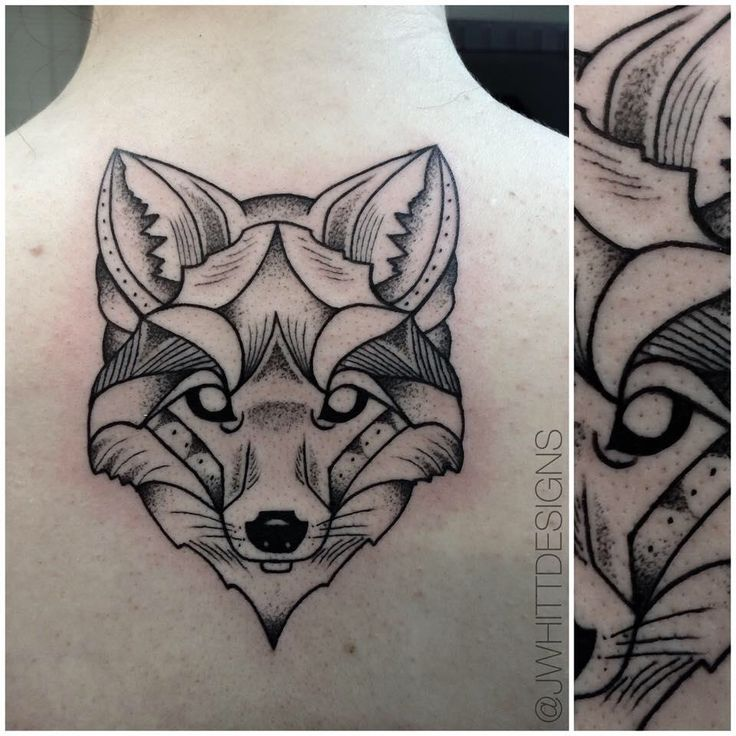 Geometric Fox tattoo • JWhitt Designs