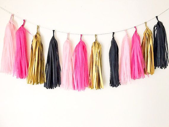Schattierungen von rosa schwarz Gold mix Hochzeit von Bagsoffavours